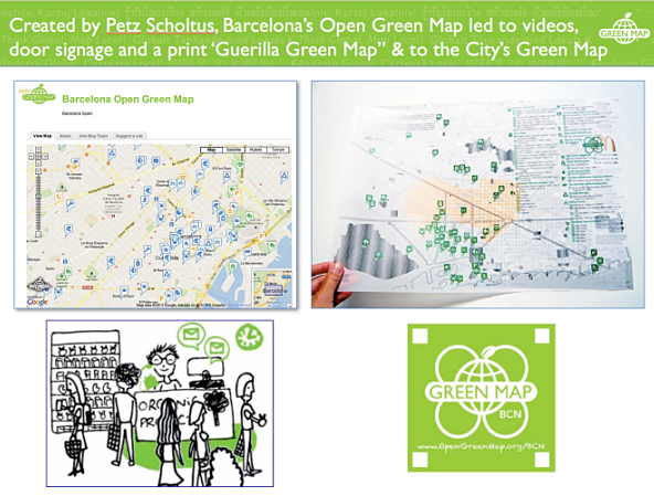 Map Of Spain With Barcelona.Barcelona Spain Green Maps Greenmap Org