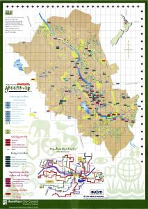 Hamilton New Zealand Map.Hamilton New Zealand Green Map System