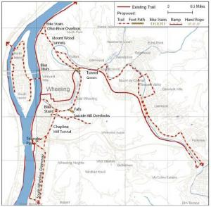 Rails to Trails Bicycle Backpacking Routes Green Map System