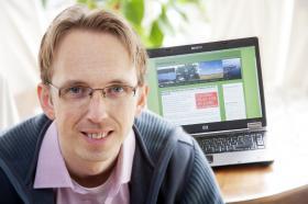 Award winner Ben Andersen for work with EkoBlekinge and Green map