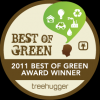 Treehugger Best of Green 2011 Winner!