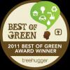 Treehugger Best of Green 2011 Winner!