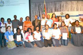 eThekwini Green Map launch - Ward 12 youth receive certificates for their participation in 'mapping sustainability'.