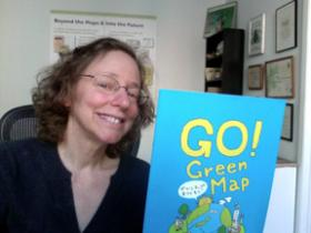 Wendy with Green Map Aichi's newest Publication!