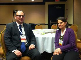 Chris Halecki, Department of State, and Janet Felsten, Baltimore Green Map