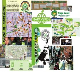 Mapa Verde Collage