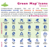 Green Map Icon Postcard