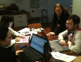 With University of Michigan Information grad students as the Archive Review website was being built, March 2012
