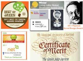 Some of Green Map's awards