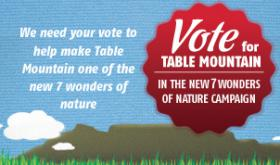 Vote for Table mountain, Cape Town , South Africa