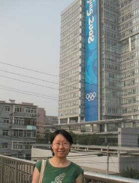 At the Beijing 2008 Olympics HQ