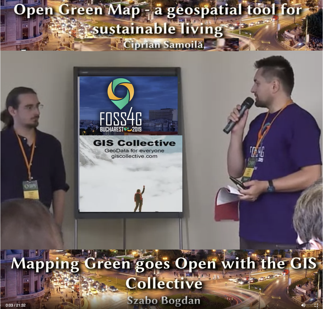 Open Green Map 2 presented at FOSS4G 2019