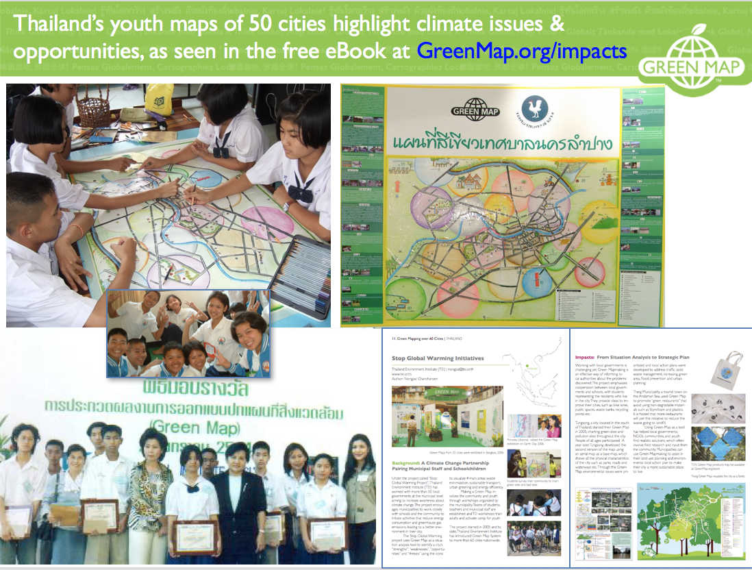 Thai Youth made Climate Green Maps in 60 Cities