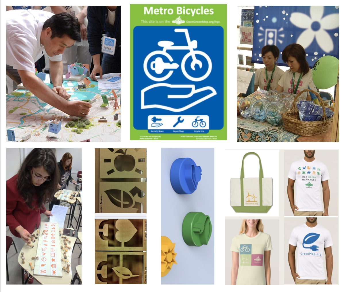 Products made by Green Mapmakers